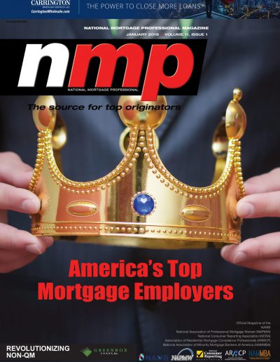 Cover image of NMP Magazine's January 2019 edition.
